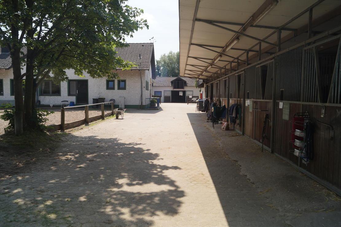 Remise mit Blick auf Eingang Innenstall