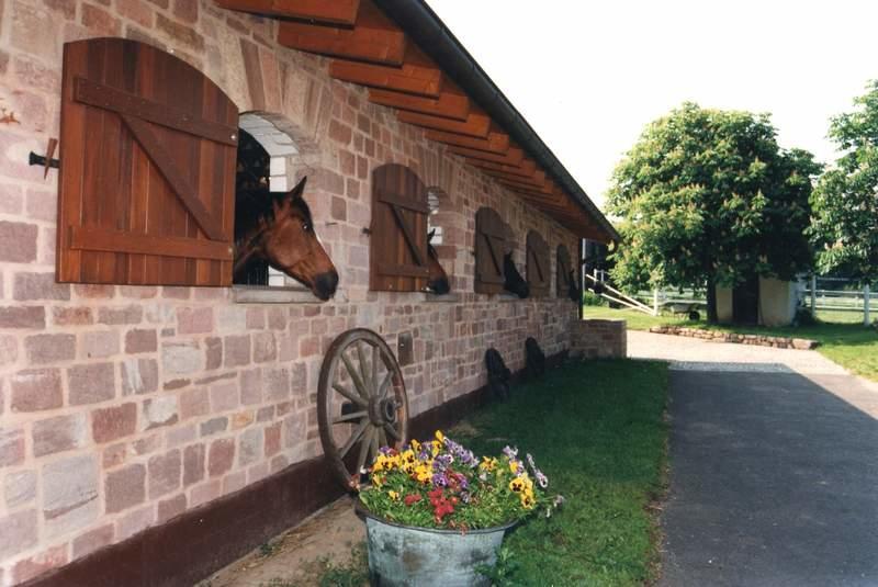 Sehr schöner Pferdestall, mit Sandsteinen gemauer