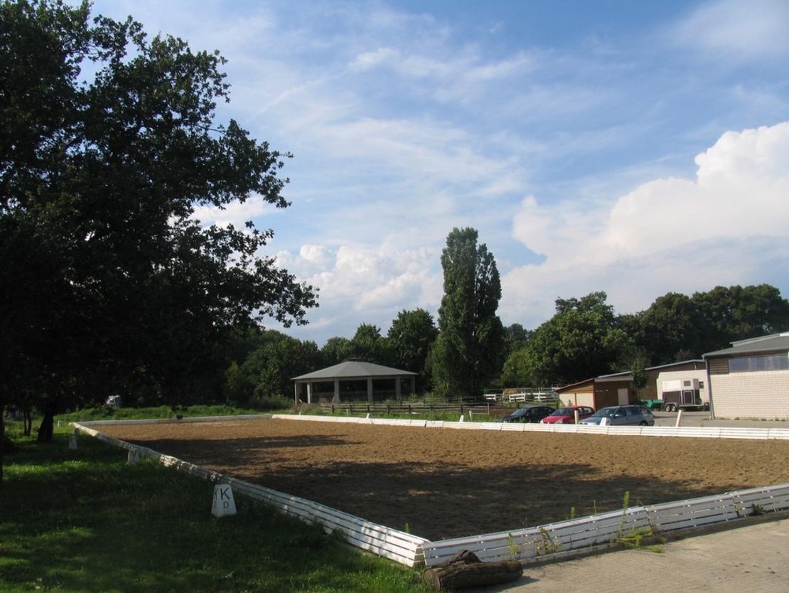 Dressurviereck und Longierhalle