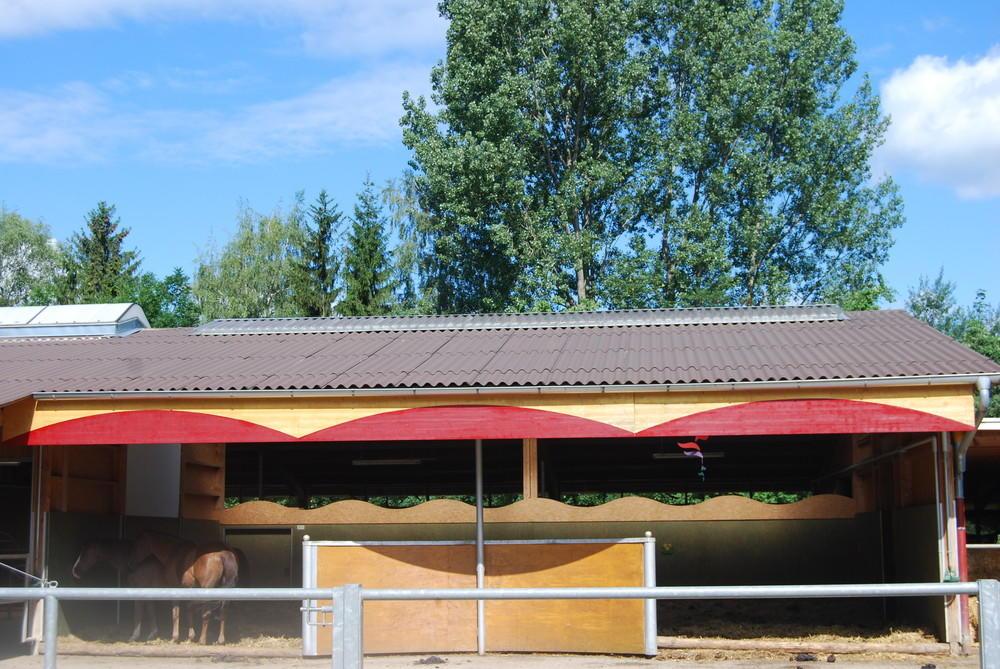 Liegehalle Laufstall