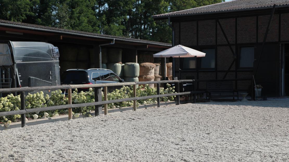 Reitplatz und Terrasse