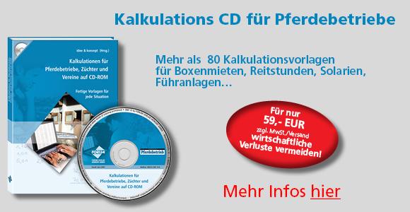 Kalkulations-CD für Pferdebetriebe
