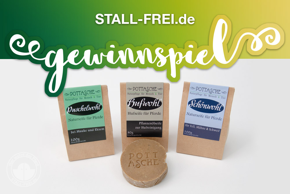 Stall-frei.de, Gewinnspiel, Verlosung, Giveaway, Naturseife, nachhaltig, Pferd, Pferdepflege, Mauke, Ekzem, Schweif, Mähne, Seifenschaum, Naturprodukt