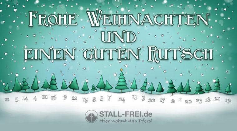 Frohe Weihnachten und einen guten Rutsch wünscht STALL-FREI.de