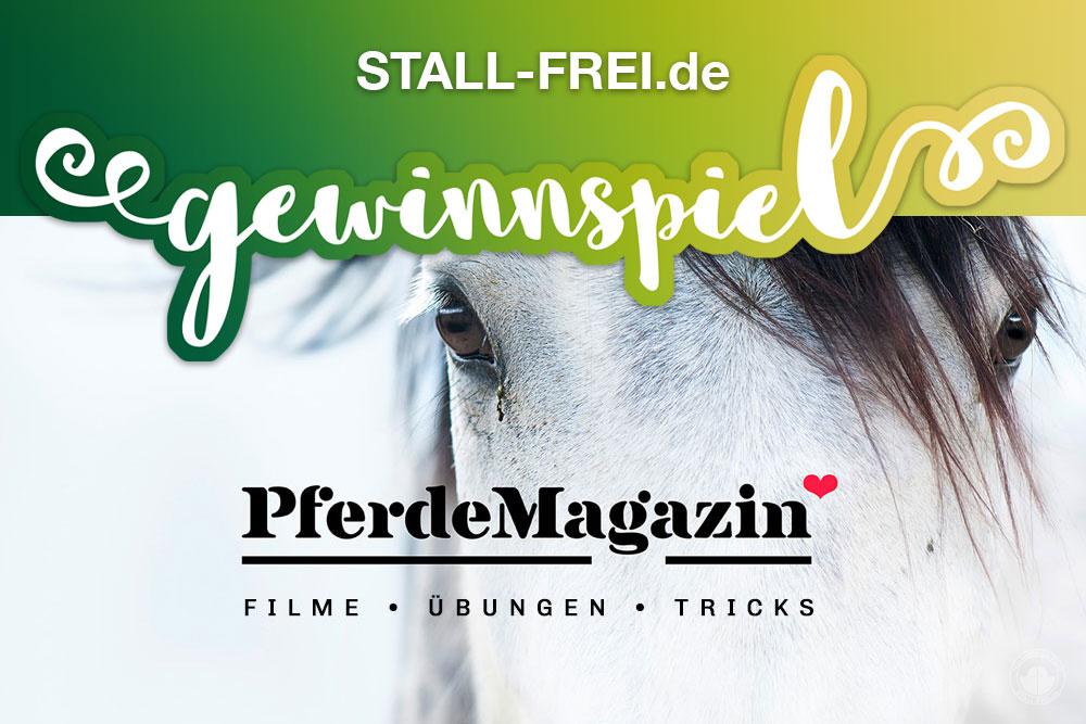 Gewinnspiel, STALL-FREI.de, PferdeMagazin, Video, Pferdeartikel, Pferdeausbildung, Pferdegesundheit, diy
