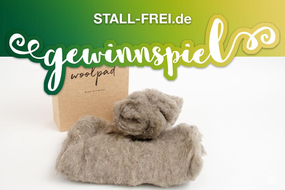 Gewinnspiel Woolpad Schafwoll Bandagierunterlage